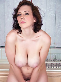 Louisa Lockheart showing off her big melons and tight pussy